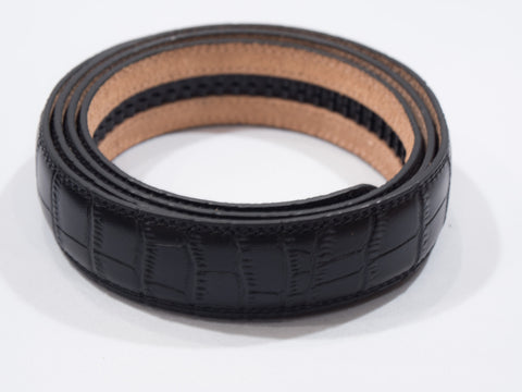 Black Alligator Skin Imitation Belt