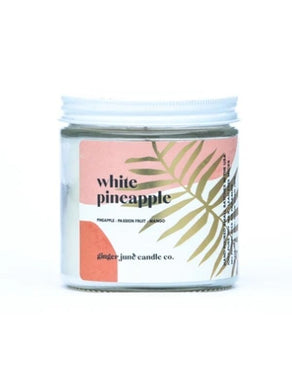 White Pineapple Soy Candle