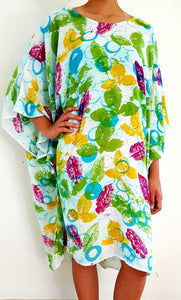 Nature inspired, Hand-painted Cotton Caftan