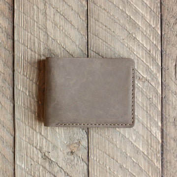 Bureau Leather Billfold Wallet - Sand