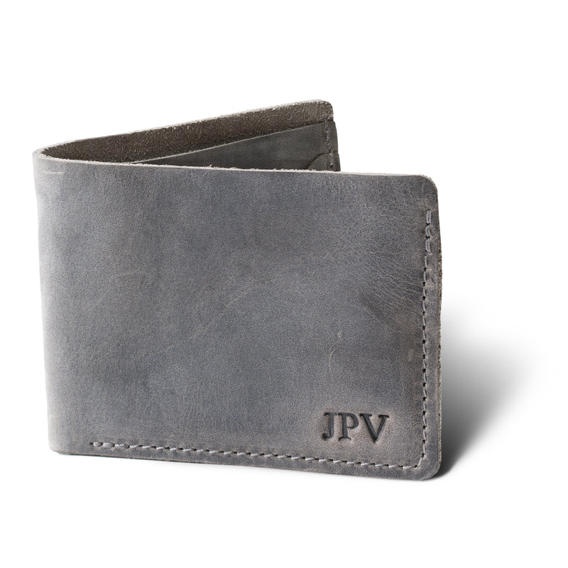 Bureau Leather Billfold Wallet - Rock