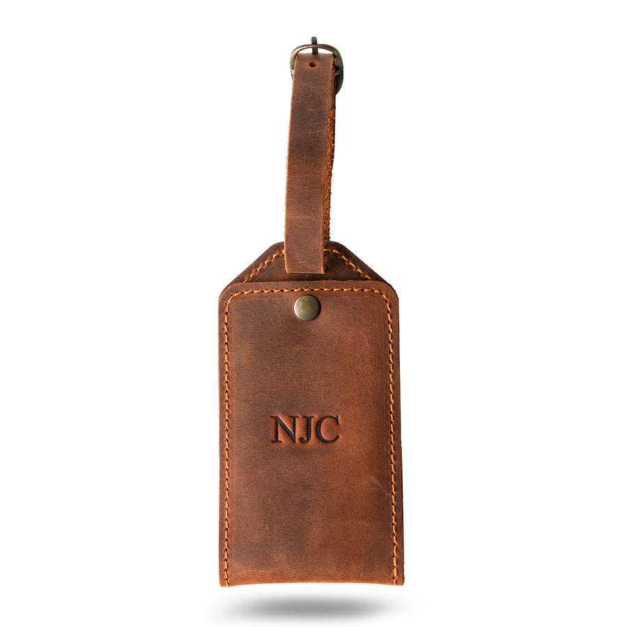 Bond Luggage Tag - Mahogany
