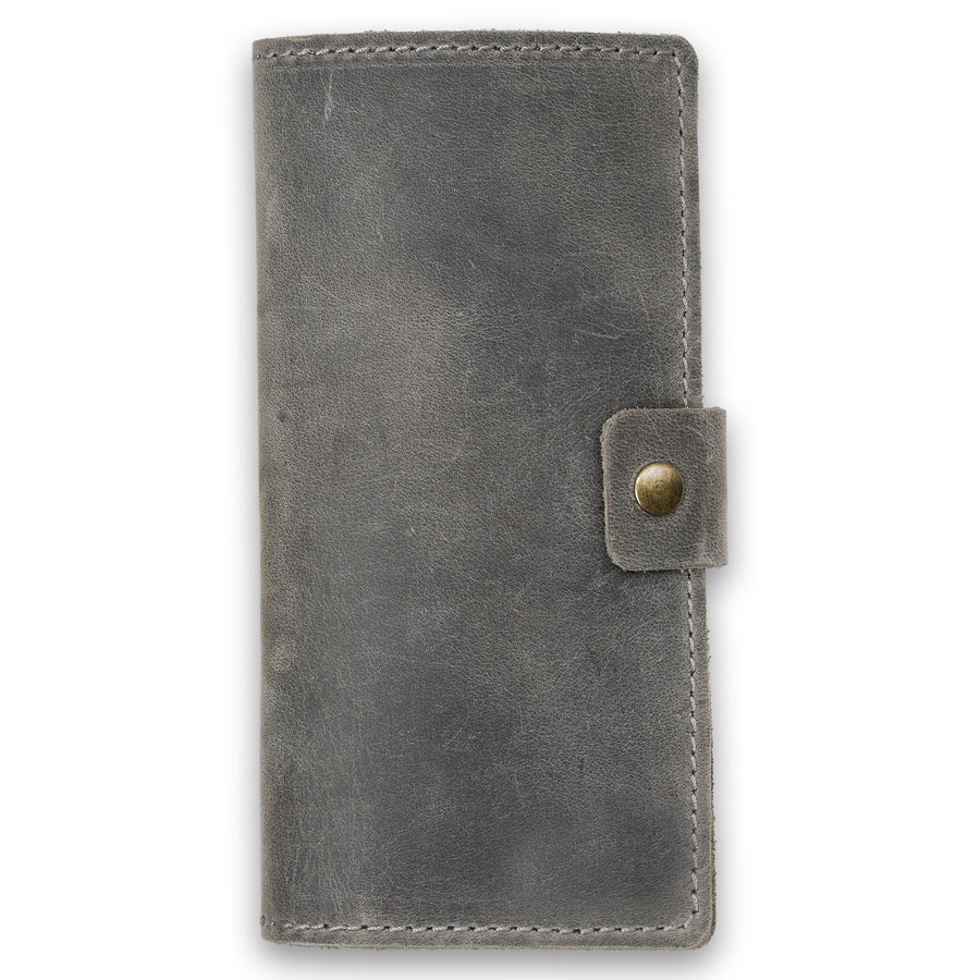 Clark Leather Checkbook Cover - Rock