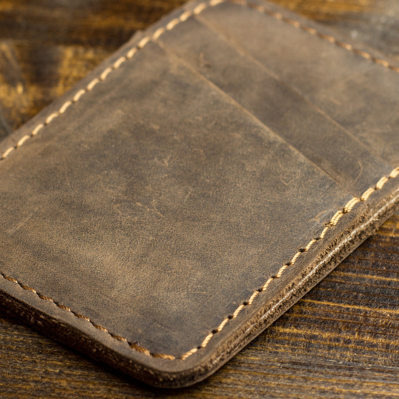 Clay Leather Card Holder - Chestnut
