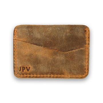 Clay Leather Card Holder - Cinnamon