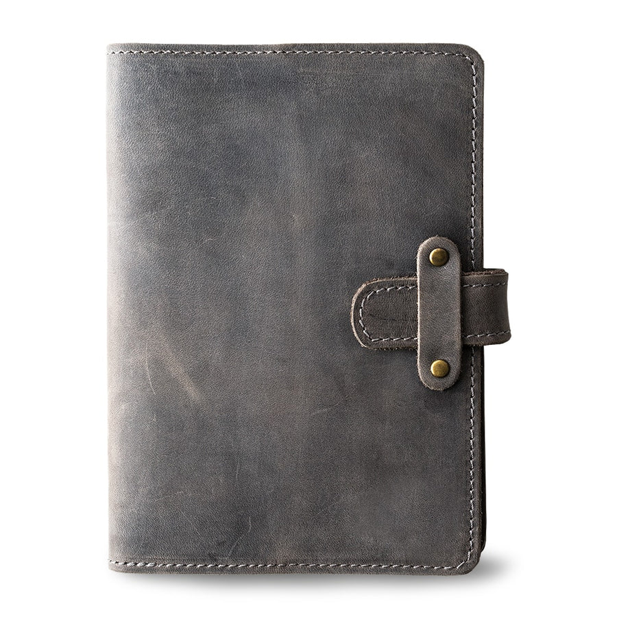 DuPage Leather Journal - Rock Gray