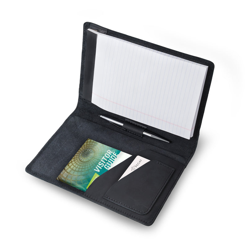 Eriksen Leather Junior Legal Padfolio - Charcoal