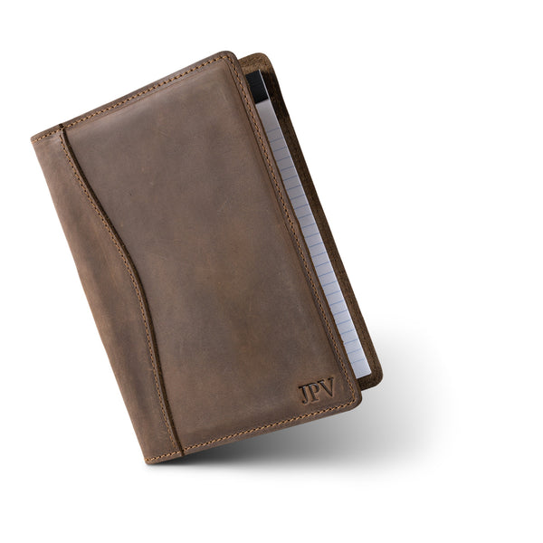 Eriksen Leather Junior Legal Padfolio - Sand