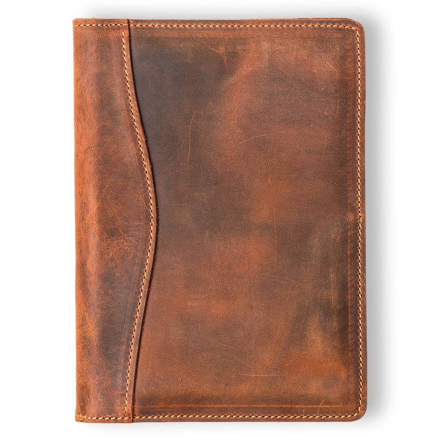 Eriksen Leather Junior Legal Padfolio - Mahogany