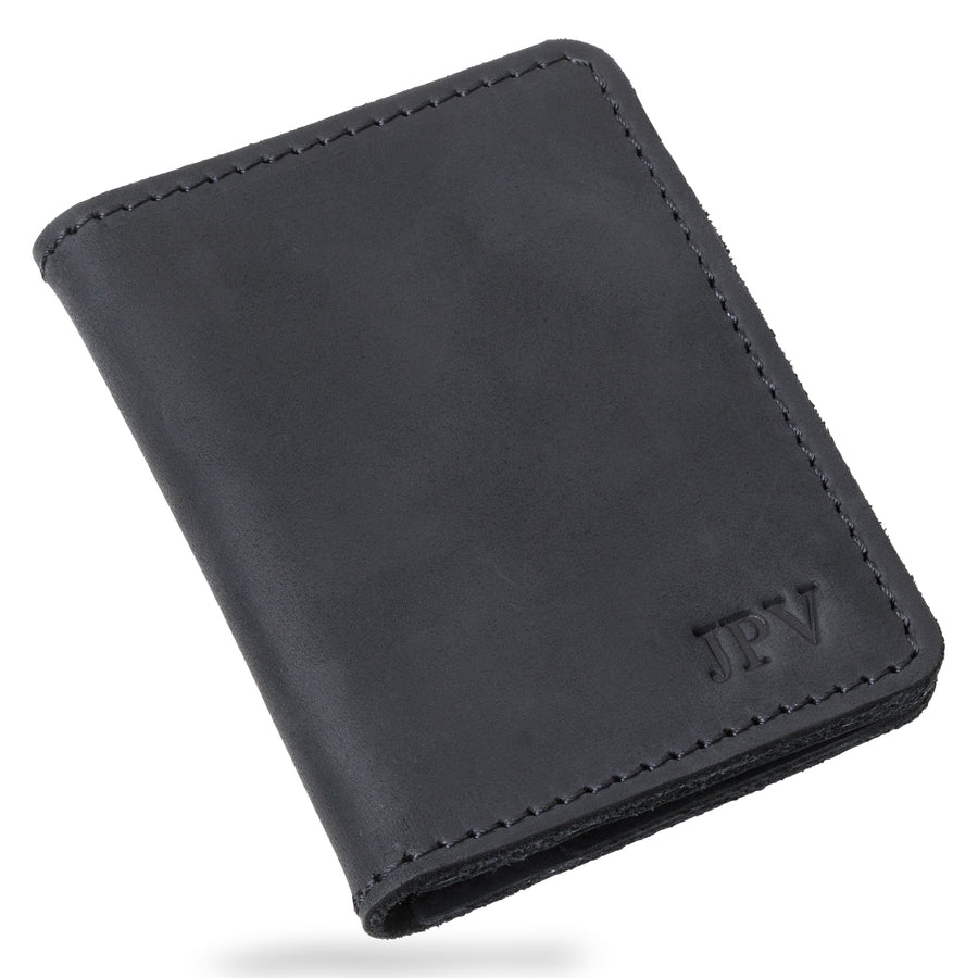 Knox Leather Bifold Wallet - Charcoal