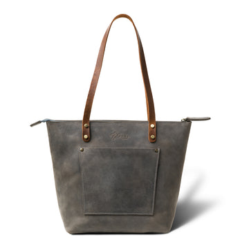 LaSalle Rustic Leather Tote  | Rock Mini Premium