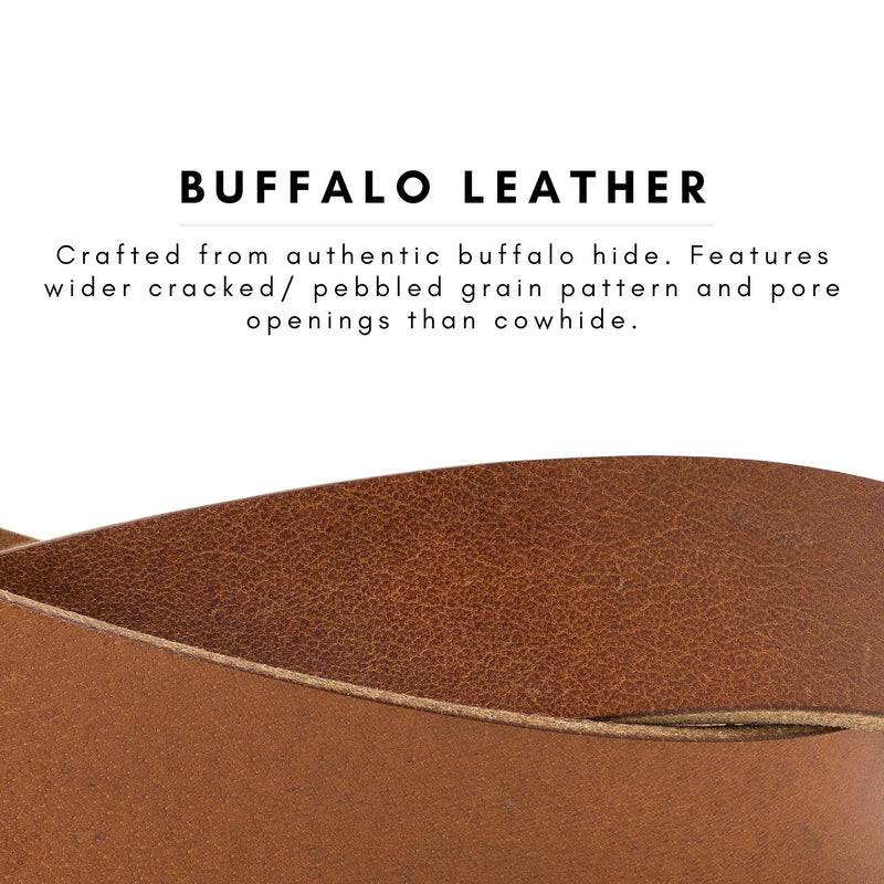 Buffalo Leather Belt for Men | Wheat Brown