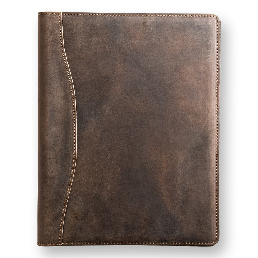 Marshall Leather Padfolio - Chestnut Brown