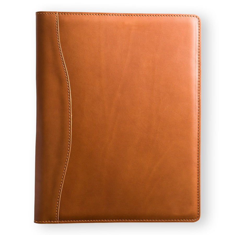 Marshall Leather Padfolio - Cognac Brown