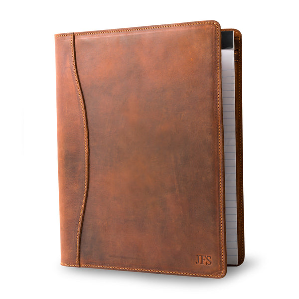 Marshall Leather Padfolio - Mahogany Brown