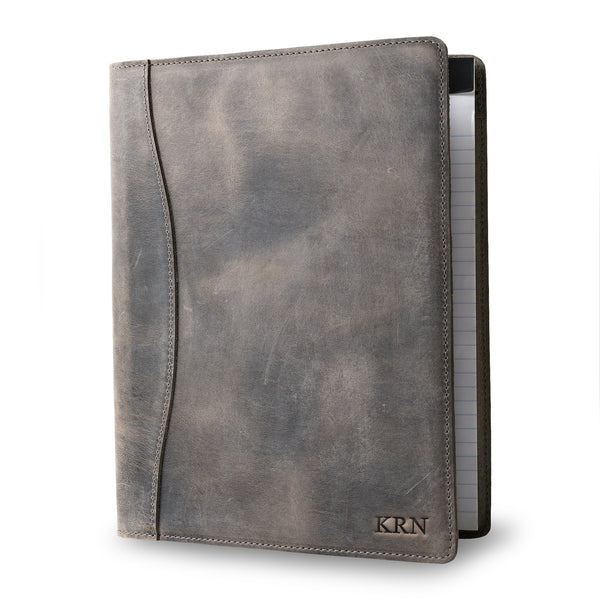 Marshall Leather Padfolio - Rock Gray