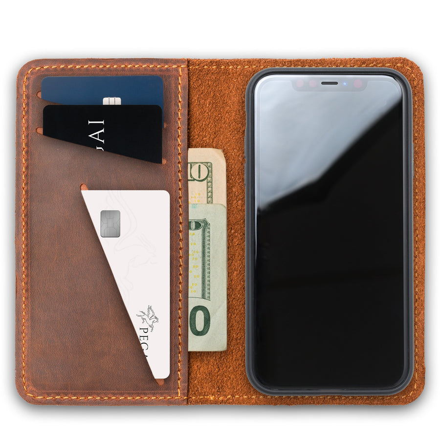 McLean Leather iPhone Case/ Wallet - Mahogany