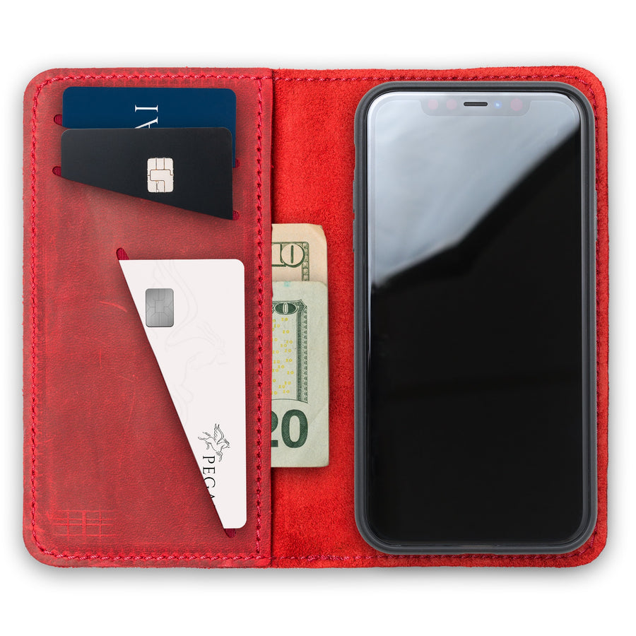 McLean Leather iPhone Case/ Wallet - Rose