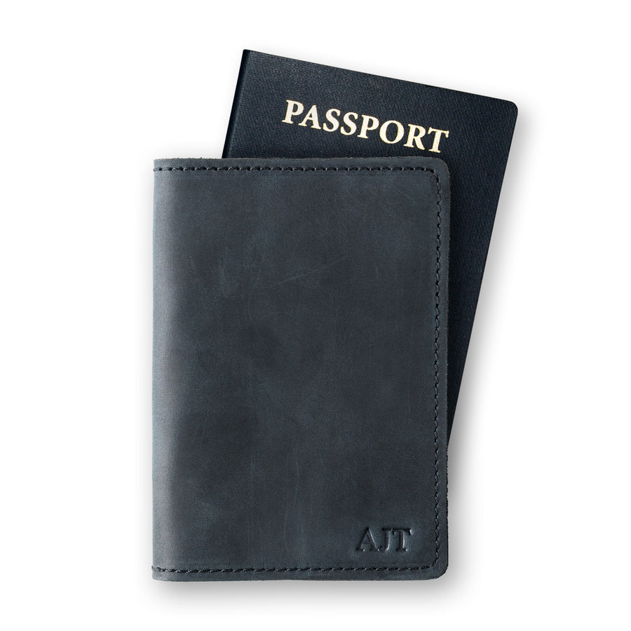 DeKalb Passport Cover - Charcoal Black