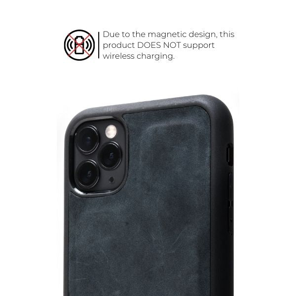 McLean Leather iPhone Case/ Wallet - Charcoal