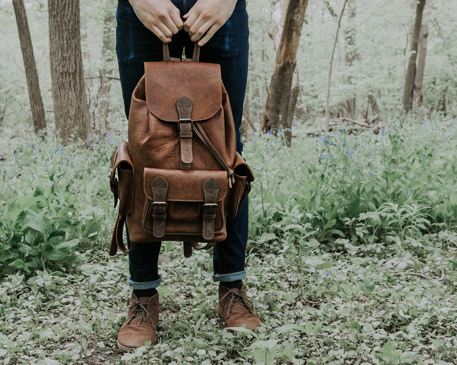 McHenry Leather Backpack - Tobacco Brown
