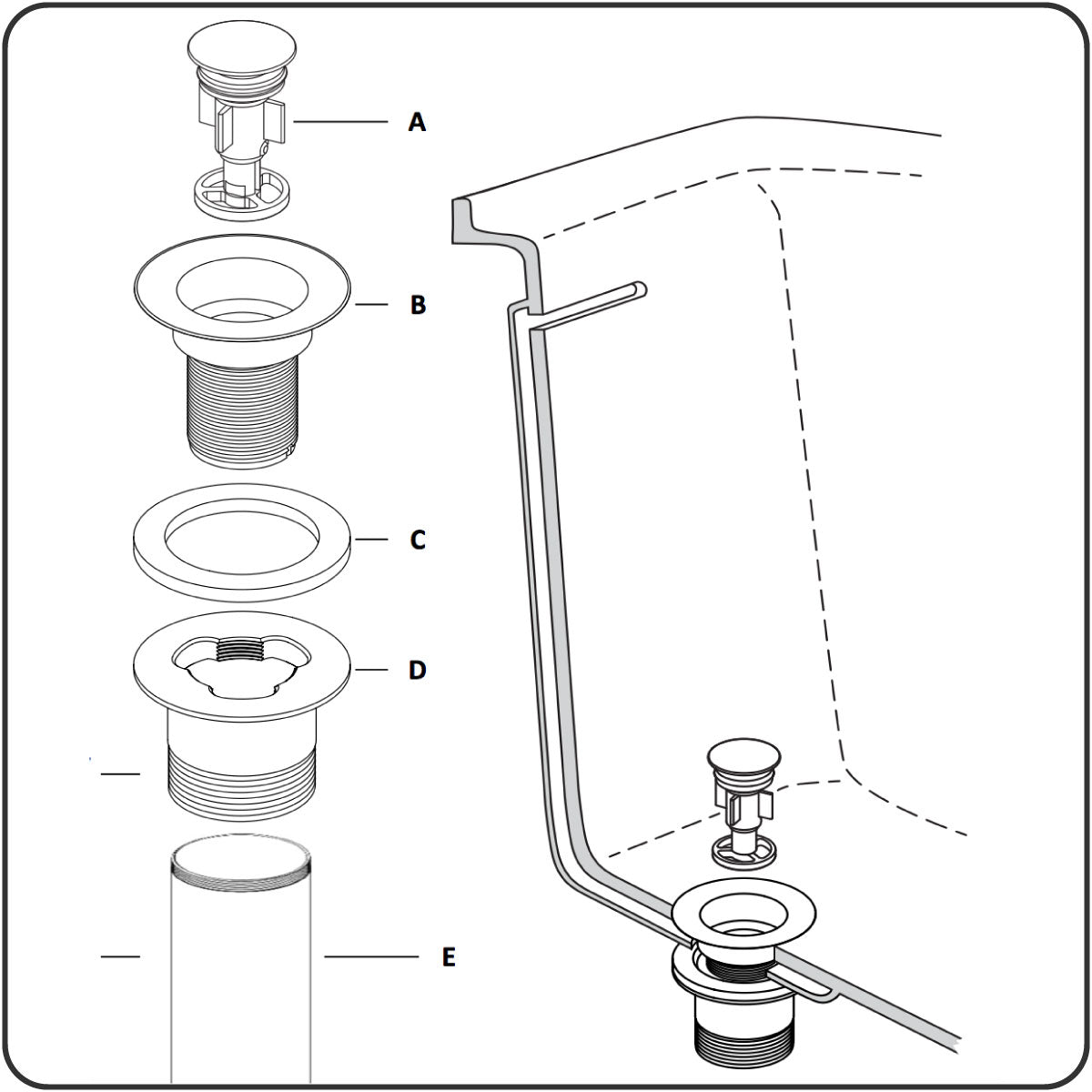 71232 Integral Overflow Tub Installation Instructions