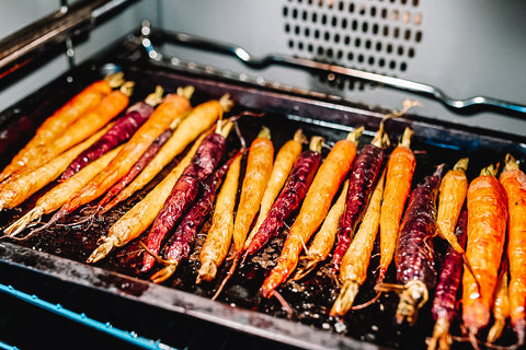 Christmas lunch roasted rainbow carrots at online farmers market Your Food collective