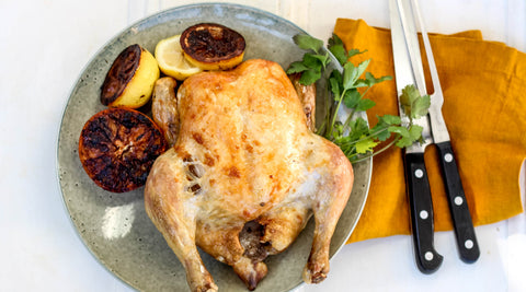 Roast chicken recipe from local producer Hunter Natural at Your Food Collective