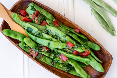 Zesty Flat Bean Salad at Your Food Collective