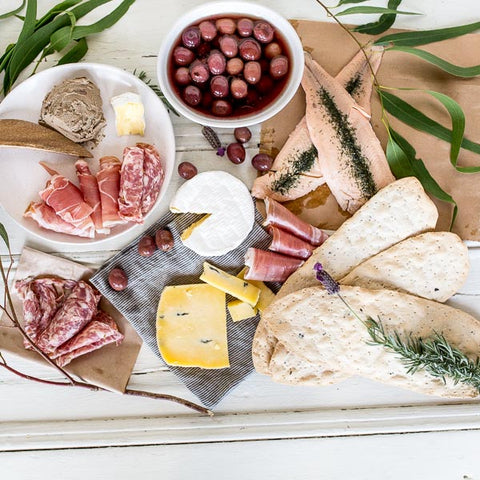 Local dips and nibbles for winter picnic at Your Food Collective
