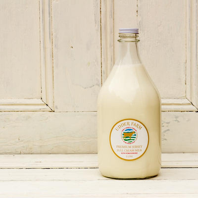 Local local jersey milk from local producer udder farm at your food collective