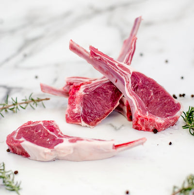 Local Grass Fed Lamb Cutlets - 400g (6 pieces)