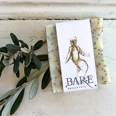 Local Orange & Poppy Seed Olive Oil Soap Bar from Producer BARE Nature'sSkin at Your Food Collective
