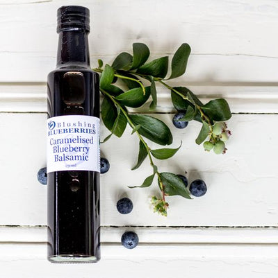 Local Caramelised Blueberry Balsamic from Blushing Blueberries for Your Food Collective