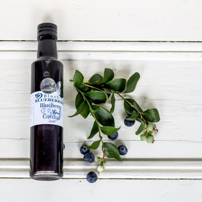 Local Blueberry Shrub Cordial from Blushing Blueberries for Your Food Collective