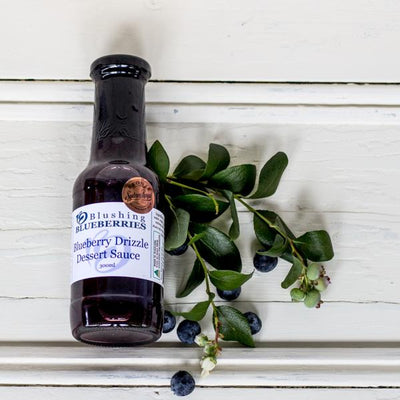 Local Blueberry Dessert Drizzle Sauce from Blushing Blueberries for Your Food Collective