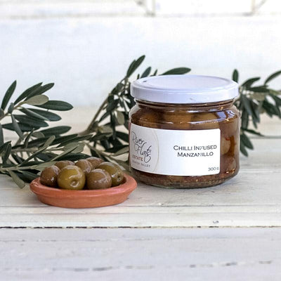 Local Chilli Infused Manzanillo Olives by Producer Riverflats Estate at Your Food Collective