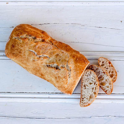 Local Ciabatta from local producer Baccos Bakery at Your Food Collective