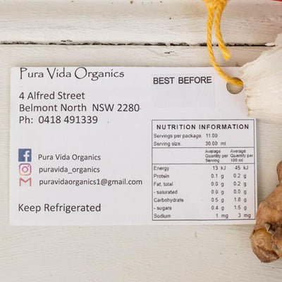 Local Kombucha from Producer Pura Vida Organics at Your Food Collective