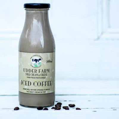 Local Iced Coffee Milk from local Producer Udder farm at Your Food Collective