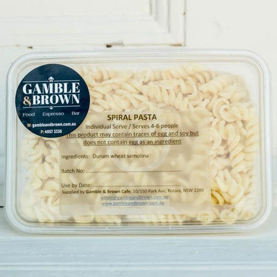 Local Cooked Pasta From Gamble & Brown at Your Food Collective