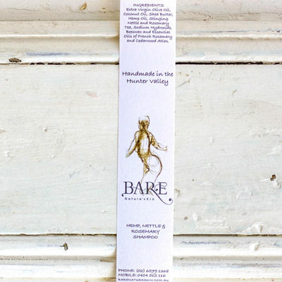 Local Hemp, Rosemary & Nettle Shampoo Strip from BARE Nature'sKin at Your Food Collective