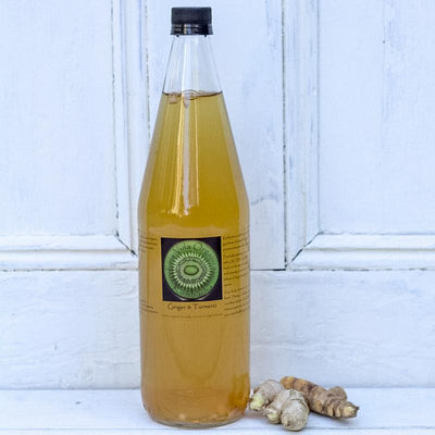 Local Ginger and Tumeric Kombucha from Producer Pura Vida Organics at Your Food Collective