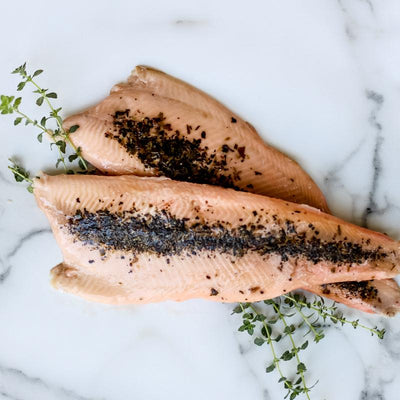 Local Lemon Basil and Thyme Smoked Trout from Arc-en-Ciel trout Farm at Your Food Collective