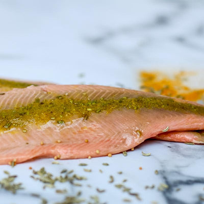 Local Mustard, Fennel and Tumeric Smoked Trout from Arc-en-Ciel trout Farm at Your Food Collective
