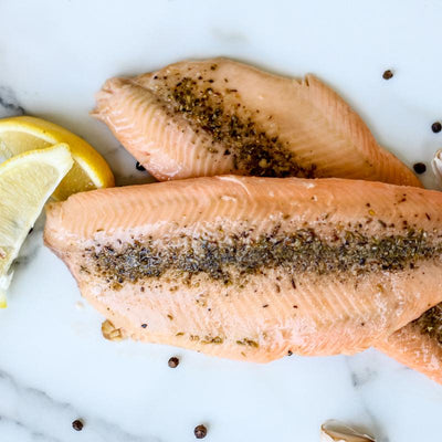 Local Herb and Garlic Smoked Trout from Arc-en-Ciel trout Farm at Your Food Collective