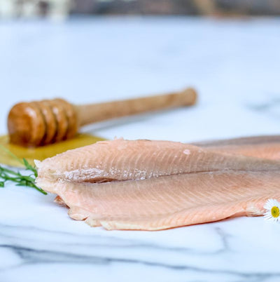 Local Honey Smoked Trout (fillets) 220g (min)