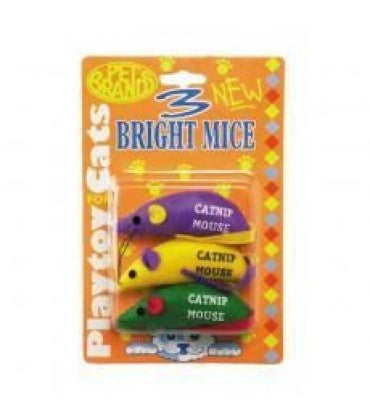 Pet Brands Three Bright Mice Interactive Cat Toy