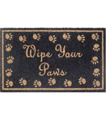 Pvc Pawprint Doormat Wipe