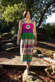 Birdie Bohemian Linen Dress with Applique and Beading